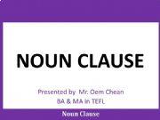English powerpoint: Noun Clause