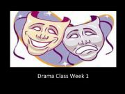 English powerpoint: Drama Class Intro