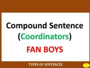English powerpoint: PART II: COMPOUND SENTENCE