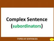 English powerpoint: PART III: COMPLEX SENTENCE