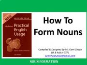 English powerpoint: How nouns are formed