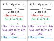 English powerpoint: Food like speech