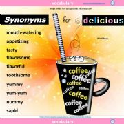 English powerpoint: Synonyms for Delicious