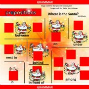 English powerpoint: Prepositions of Place with Santa Claus