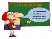 English powerpoint: FIRST CONDITIONAÑ