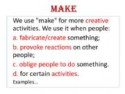 English powerpoint: Make x Do
