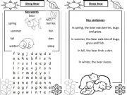 English powerpoint: Sleep Bear wordsearch