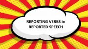 English powerpoint: Reporting verbs