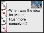 English powerpoint: 0.0DE - Mount Rushmore WEBQUEST I - RECAP II - Card Game