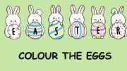 English powerpoint: Colour the Easter eggs