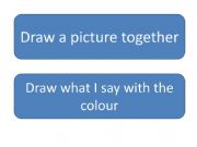 English powerpoint: Draw what I say