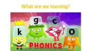 English powerpoint: the first lesson of phonics