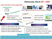 English powerpoint: Brain drain vocabulary introducing unit