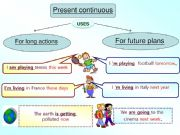 English powerpoint: present continuous for future planning