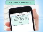 English powerpoint: phone messages / sms