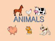 English powerpoint: Animals - matching game (memory)