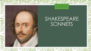 English powerpoint: SHAKESPEARE SONNETS