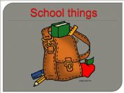 English powerpoint: School things