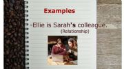 English powerpoint: Possessive Nouns examples Flashcards