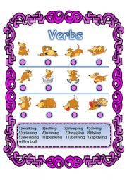 English Worksheets: LEARN VERBS WITH THIS CUTE DOG :-) (31.07.08)