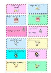 Question - answer cards - 1(01/01/2008)