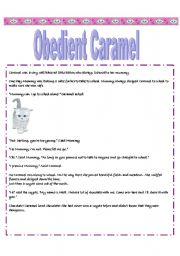 English Worksheets: Obedient Caramel