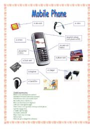 English Worksheet: Mobile phone