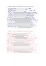 English worksheet: Will - exercises