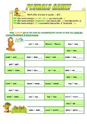 English Worksheets: Plurals Game