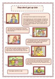 English Worksheets: They don�t get up late (02.08.08)