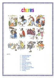 English Worksheets: daily chores