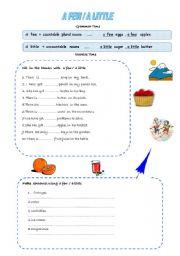 English Worksheet: a  few / a little (02/08/2008)