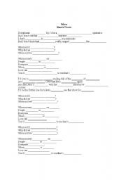 English Worksheet: Song activity - When (Shania Twain)