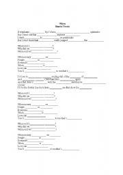 English Worksheets: Song activity - When (Shania Twain)