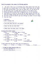 English Worksheets: a trip