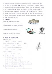 English Worksheets: the  wolf