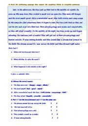 English Worksheets: lousy trip