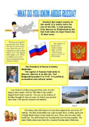 English Worksheet: What do you know about Russia. (3.08.08)