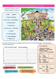 English Worksheet: When Tommy was going to school