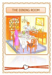 English Worksheet: THE DINING ROOM (03.08.08)