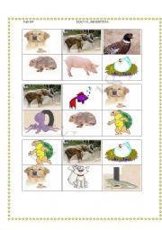 English Worksheets: Animal Bingo -18 different cards!!! 02/08/08 (6/6)