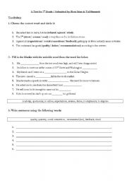 English teaching worksheets: 7th grade