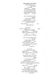 English Worksheet: Phil Collins - True colours