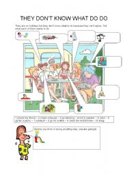 English Worksheets: THEY DON�T KNOW WHAT TO DO( 4.8.08)