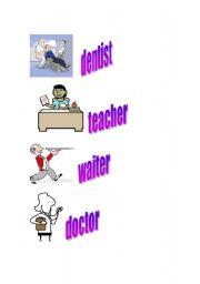 English Worksheets: Jobs Memory Game