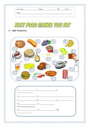 English Worksheet: Fast food makes you fat - 05.08.08