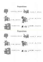 English Worksheet: Prepositions - Aliens
