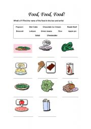 English Worksheets: Food / How Many and How Much