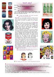 English worksheet: Pop Art