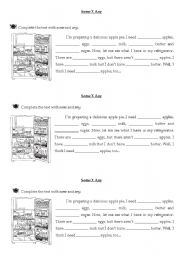 English Worksheet: Some X Any (talking about food)